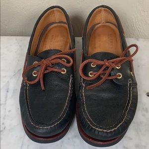 Sperry leather lace-up Top Sider loafer boat shoes